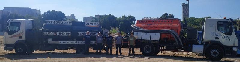 צוות שאיבות ביוב בתל אביב